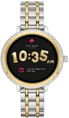 Kate Spade Women's Scallop Two-Tone Touchscreen Bracelet Smart Watch, 41mm