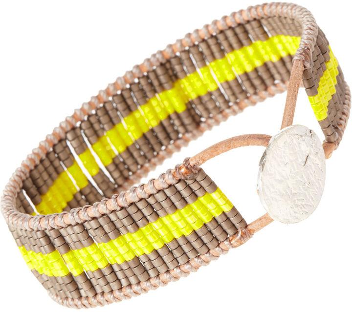 Nikki-b Nikki B Two Tone Cuff Bracelet
