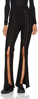 Smitten Legging Women's Baby You're a Star Lace-Up Flare High-Waisted Bell-Bottom Pant S
