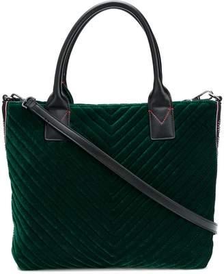 Pinko medium velvet shopping bag