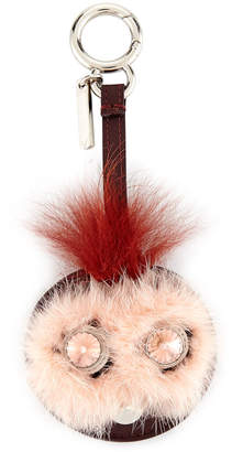 Fendi Bag Bugs Mirror Charm for Handbag, Pink/Rust