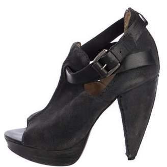 AllSaints Leather Ankle Strap Sandals