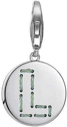 Esprit Women s Charm 925 Sterling Silver Rhodium Plated Letter Fabric L ESCH91134A000