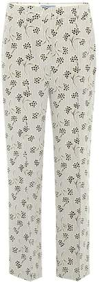 Prada Printed silk cropped trousers
