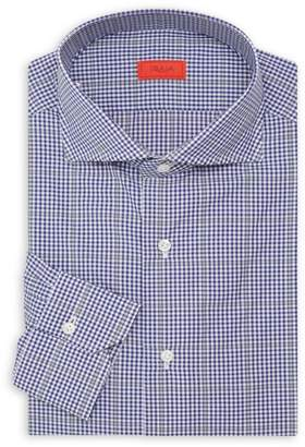 Isaia Slim-Fit Seasonal Check Dress Shirt