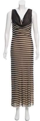 Jean Paul Gaultier Striped Maxi Dress