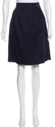 Lanvin Silk A-line Knee Length Skirt
