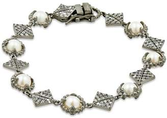 Freida Rothman Cultured Freshwater Pearl Textured Chain Bracelet