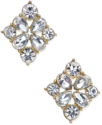 Charter Club Gold-Tone Crystal Stud Earrings, Created for Macys