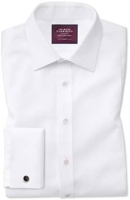 Charles Tyrwhitt Classic Fit Luxury Marcella Bib Front White Tuxedo Egyptian Cotton Dress Shirt French Cuff Size 16/34