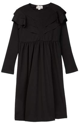 Couture Go Long Sleeve Ruffle Trim Dress (Little Girls & Big Girls)