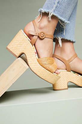 Vicenza Raffia Platform Sandals