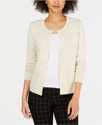Charter Club Textured Cardigan Sweater
