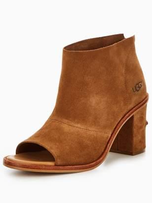 UGG Ginger Peep Toe Ankle Boot - Chestnut