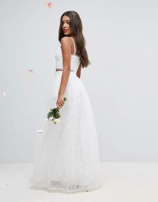 Asos Bridal Applique Maxi Skirt