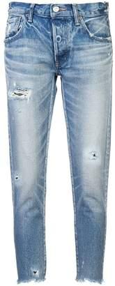 Moussy Vintage stonewashed raw hem skinny jeans