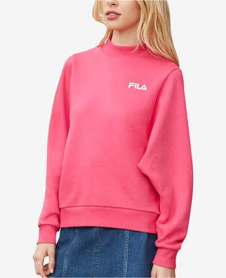 Fila Lightweight Relaxed Mock-Neck Sweatshirt