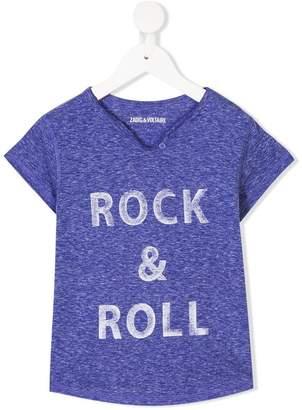 Zadig & Voltaire Kids rock & roll print T-shirt