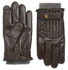 Polo Ralph Lauren Quilted Wool-Lined Leather Racing Gloves