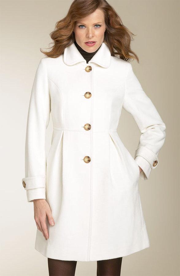 London Fog Long Wool Blend Coat