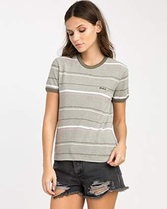 RVCA Junior's Make Me Crew Neck T-Shirt