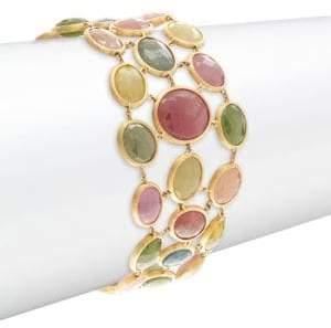 Marco Bicego Mixed Sapphires & 18K Yellow Gold Bracelet
