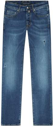 Jacob Cohen Distressed Croppy Skinny Jeans