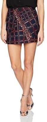 Cynthia Rowley Women's Fringe Tweed Skirt