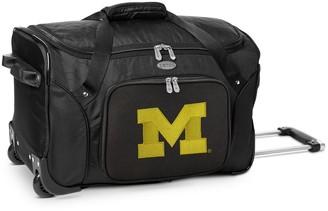 NCAA Denco Michigan Wolverines 22-Inch Wheeled Duffel Bag