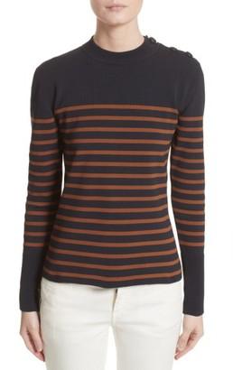 Women's Belstaff Selicia Stripe Sweater $550 thestylecure.com