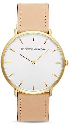 Rebecca Minkoff Major Leather Watch, 40mm