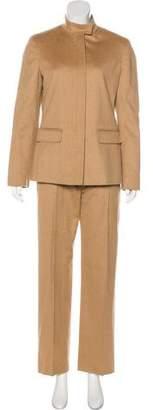 Max Mara Camel Hair Wide-Leg Pantsuit