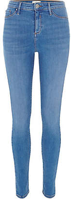 River Island Bright blue Molly skinny jeggings