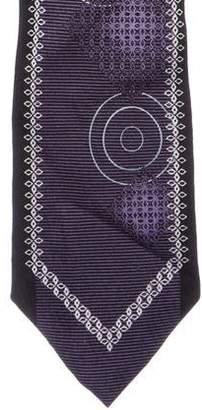 Borrelli Abstract Geometric Jacquard Silk Tie