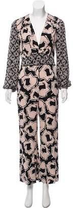 Diane von Furstenberg Silk Patterned Jumpsuit