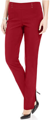 JM Collection Petite Tummy Control Pull-On Pants