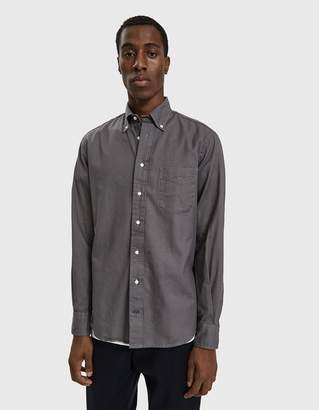 Gitman Brothers Hopsack Button Down Shirt in Grey