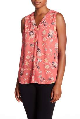 Adrianna Papell Patterned V-Neck Blouse