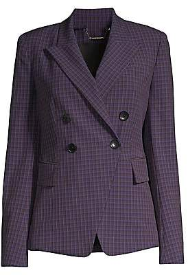 Elie Tahari Women's Jezebel Double Breasted Check Jacket