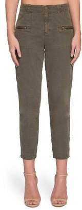 Women's Willow & Clay High Waist Crop Twill Pants $79 thestylecure.com