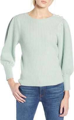 Halogen x Atlantic-Pacific Balloon Sleeve Wool & Cashmere Sweater