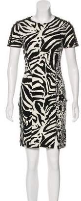 Blumarine Short Sleeve Mini Dress