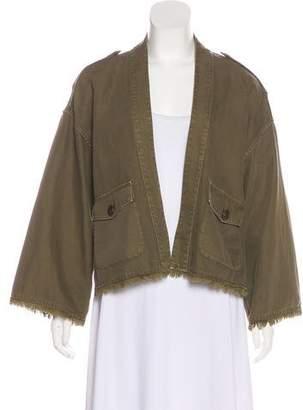 Nili Lotan Distressed Open Jacket