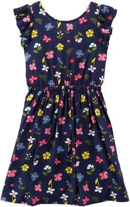Carter's Girls 4-14 Floral Bow-Back Dress