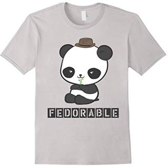 Fedorable: Panda Bear Wearing Fedora T-Shirt