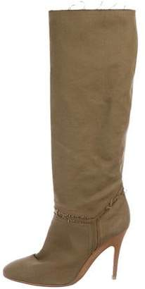Stella McCartney Canvas Knee-High Boots