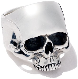 The Great Frog jawless medium anatomical skull ring