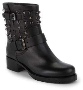 Valentino Studded Leather Motorcycle Boots