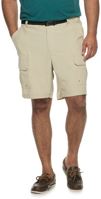 Croft & Barrow Big & Tall Classic-Fit Twill Belted Outdoor Shorts