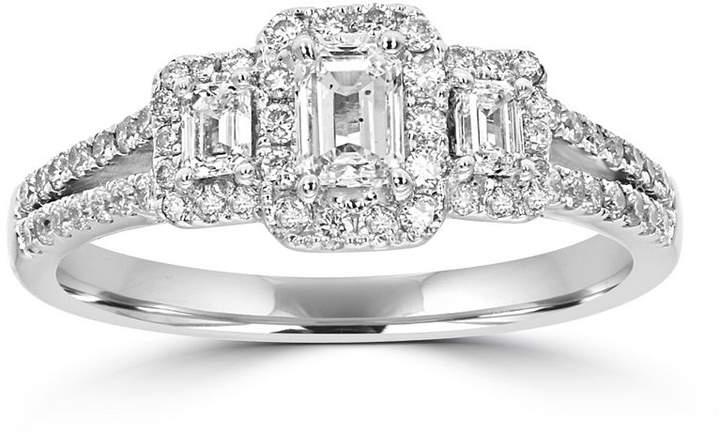 MODERN BRIDE Love Lives Forever Womens 1 CT. T.W. Multi-Shape White Diamond 14K Gold 3-Stone Ring
